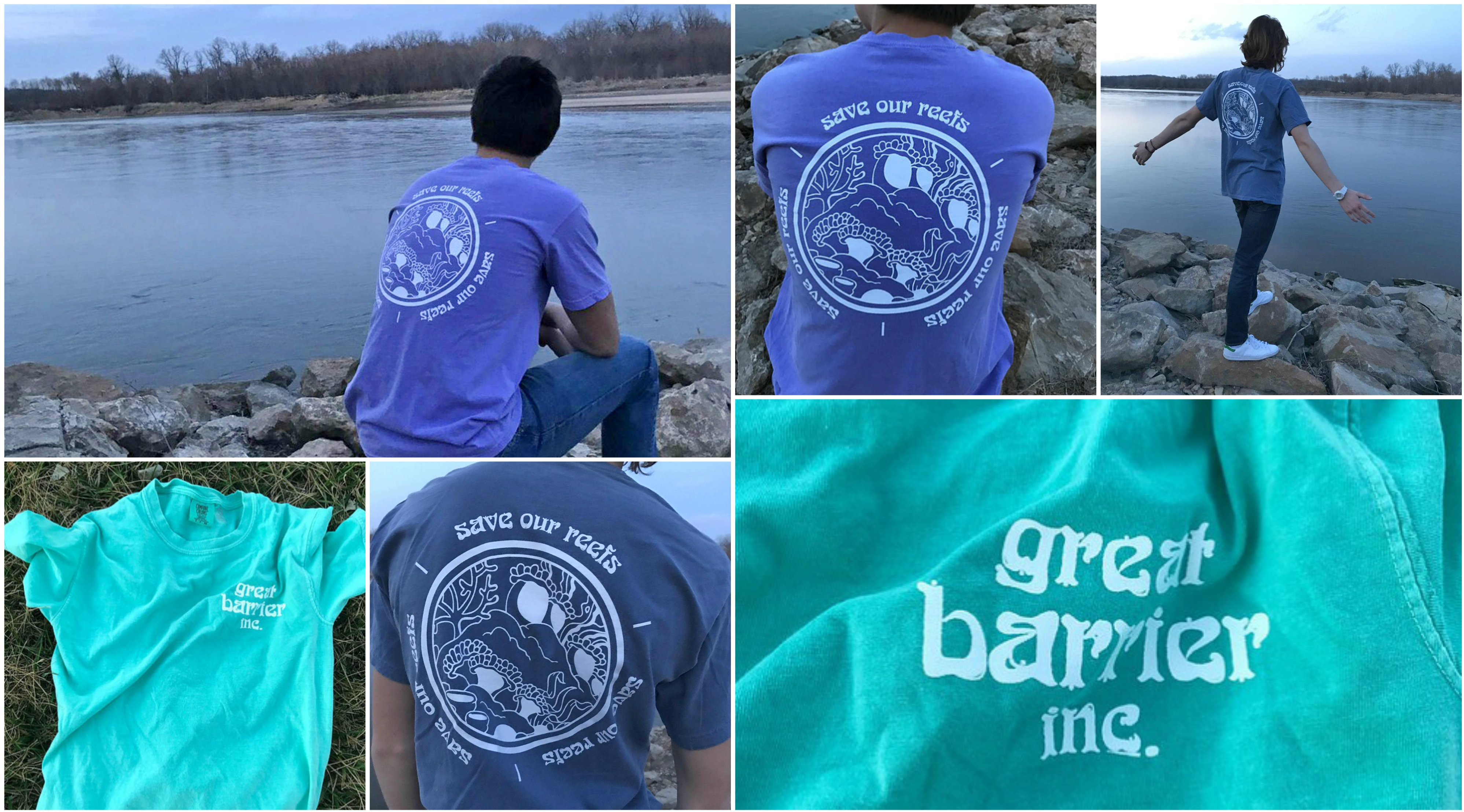 Collage of Great Barrier Inc. T-Shirts