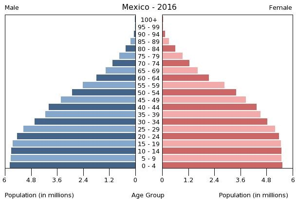 Mexico's population pyramid