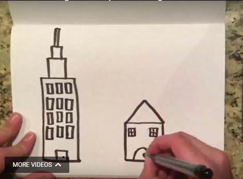 "Screen shot from student video ""Urban Sprawl is a Big Problem"""