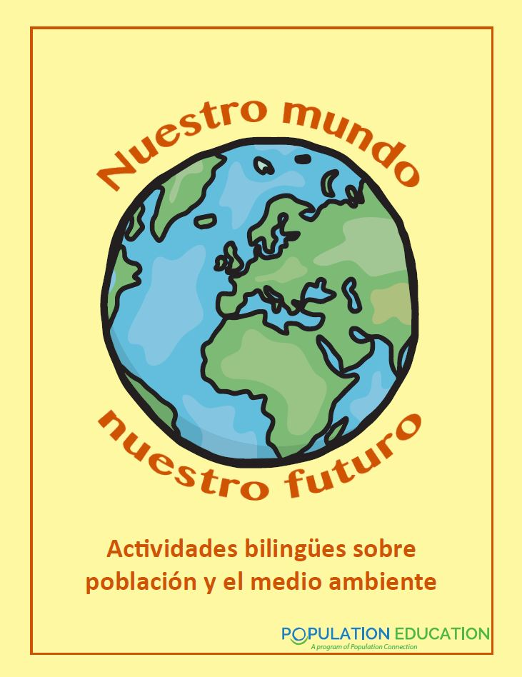 Cover photo of bilingual activity pack Nuestro mundo nuestro futuro