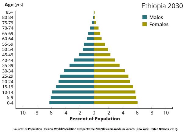 Ethiopia demographics 2030