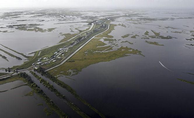 Aerial View of Isle de Jean Charles