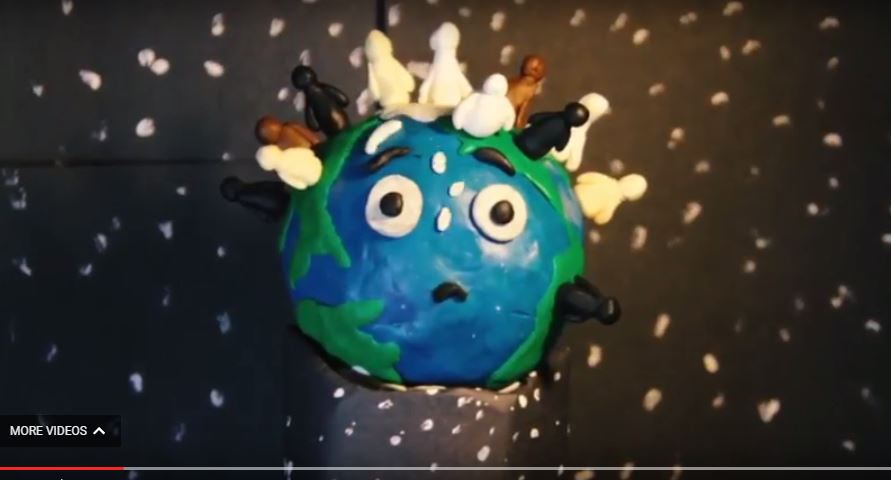 "Screen shot from student video ""Our Planet"""