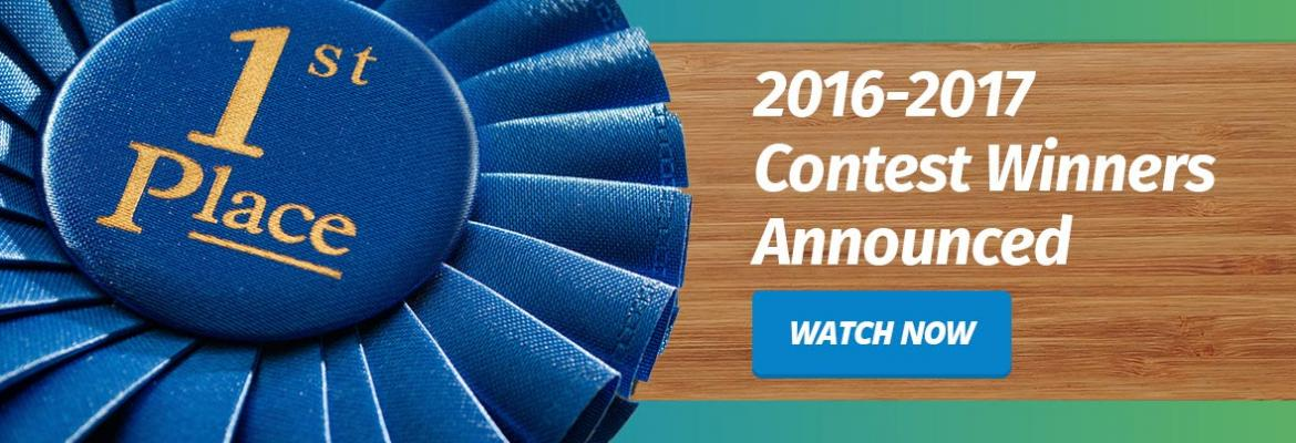 Blue ribbon announcement of 2016-2017 video contest winners