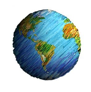 Artistic drawing of planet Earth