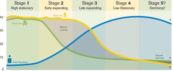Demographic Transition Model diagram
