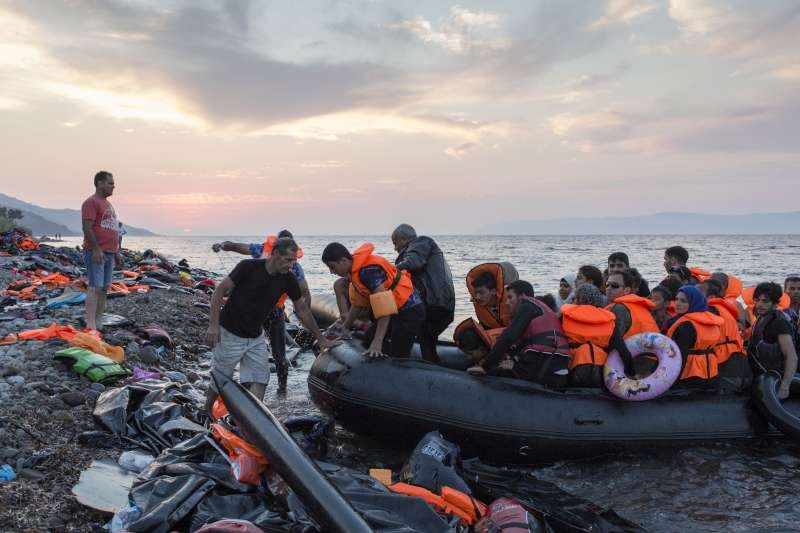Refugees on lifeboat