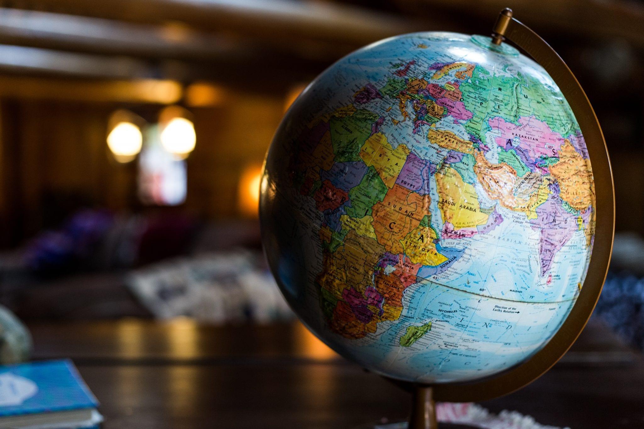Globe on desk
