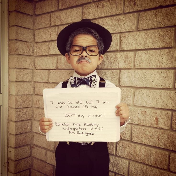 Photo of Child Dressed as 100-Year Old: Millions & Billions: Conceptualizing Large Numbers on the 100th Day of School