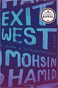 Book cover, Exit West: A Novel