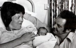Louise Brown with her parents