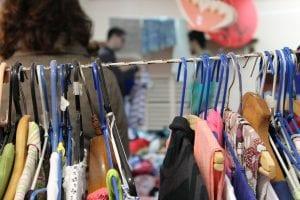Clothes at a thrift shop