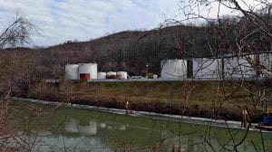 The site of the Elk River, WV mining chemical spill in 2014.