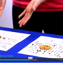 """Screenshot of video lesson plan """"Mining for Chocolate"""" showing chocolate chip cookies as an analogy to mining regions"""