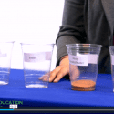 """Screenshot of video lesson plan """"Water, Water Everywhere"""" showing distribution of world's water between oceans, polar ice, and other reservoirs"""