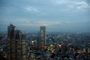 Tokyo, Japan skyline at dusk