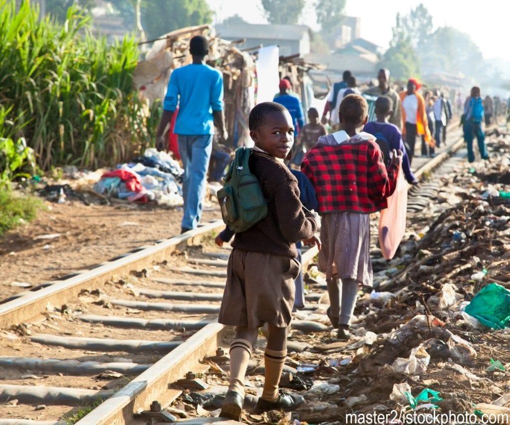 Children living in the Kibera slum outside of Nairobi, Kenya.