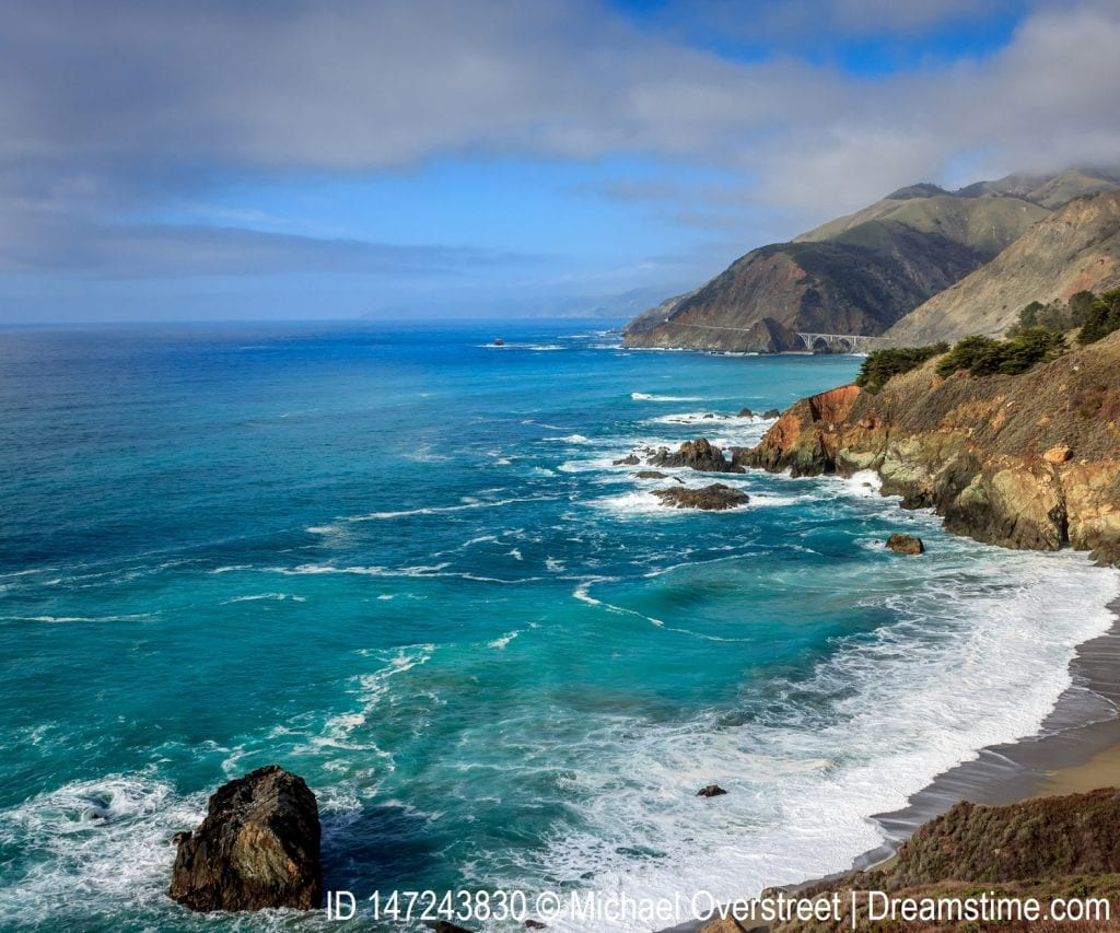 Coastal view of the Pacific Ocean