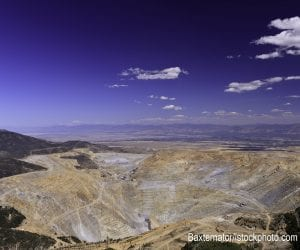 The Kennecott Copper Mine in Utah, one of the sources of raw materials described in the reading.
