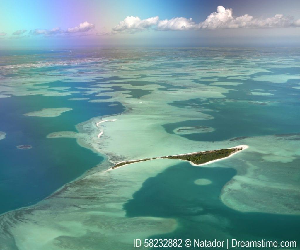 A lagoon in Kiribati.