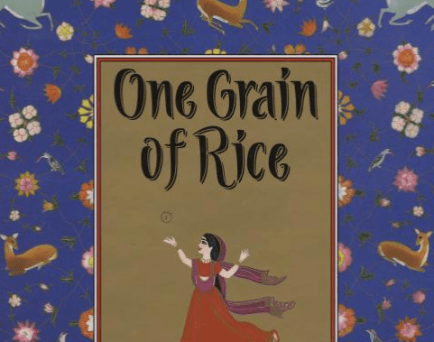 "Cropped cover of the childrens book ""One Grain of Rice"" by Demi"