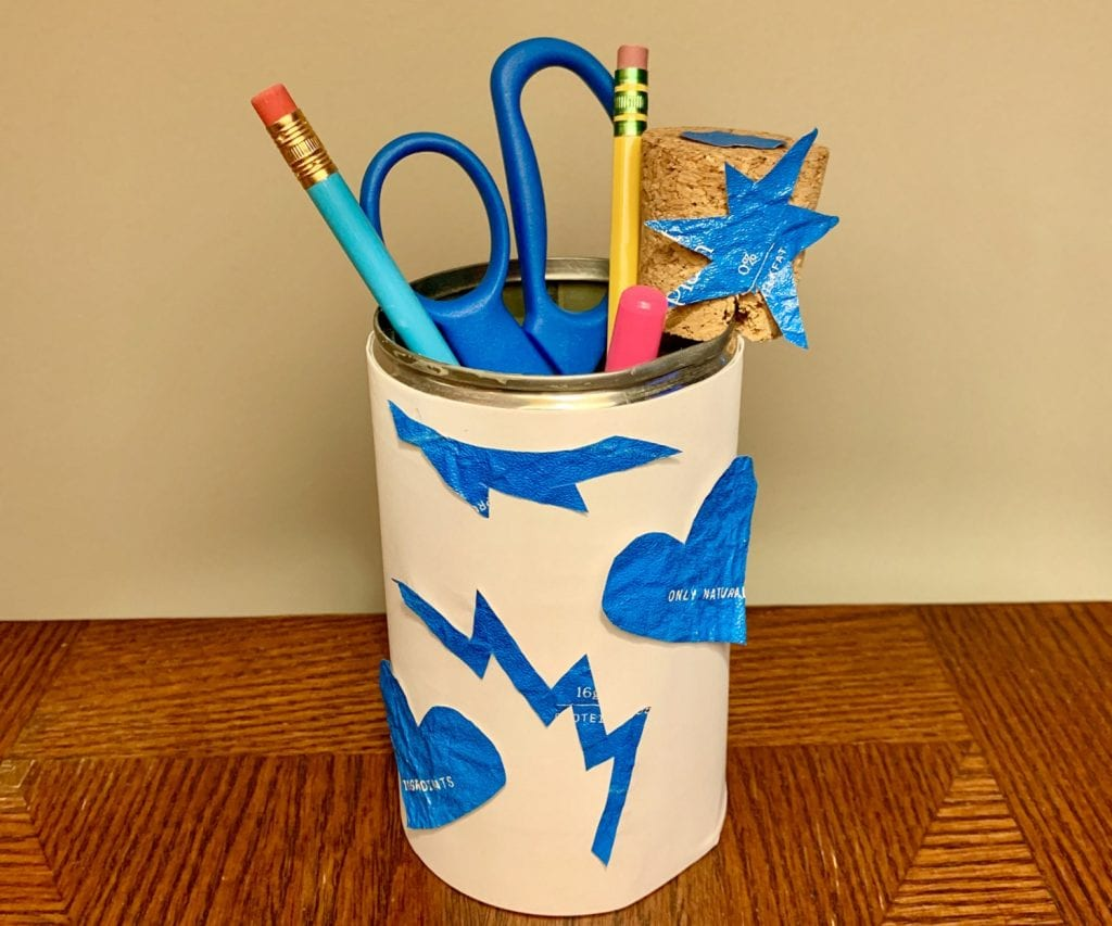 Elementary students can turn trash into treasure by reusing old items in the classroom activity Waste Not Want Not