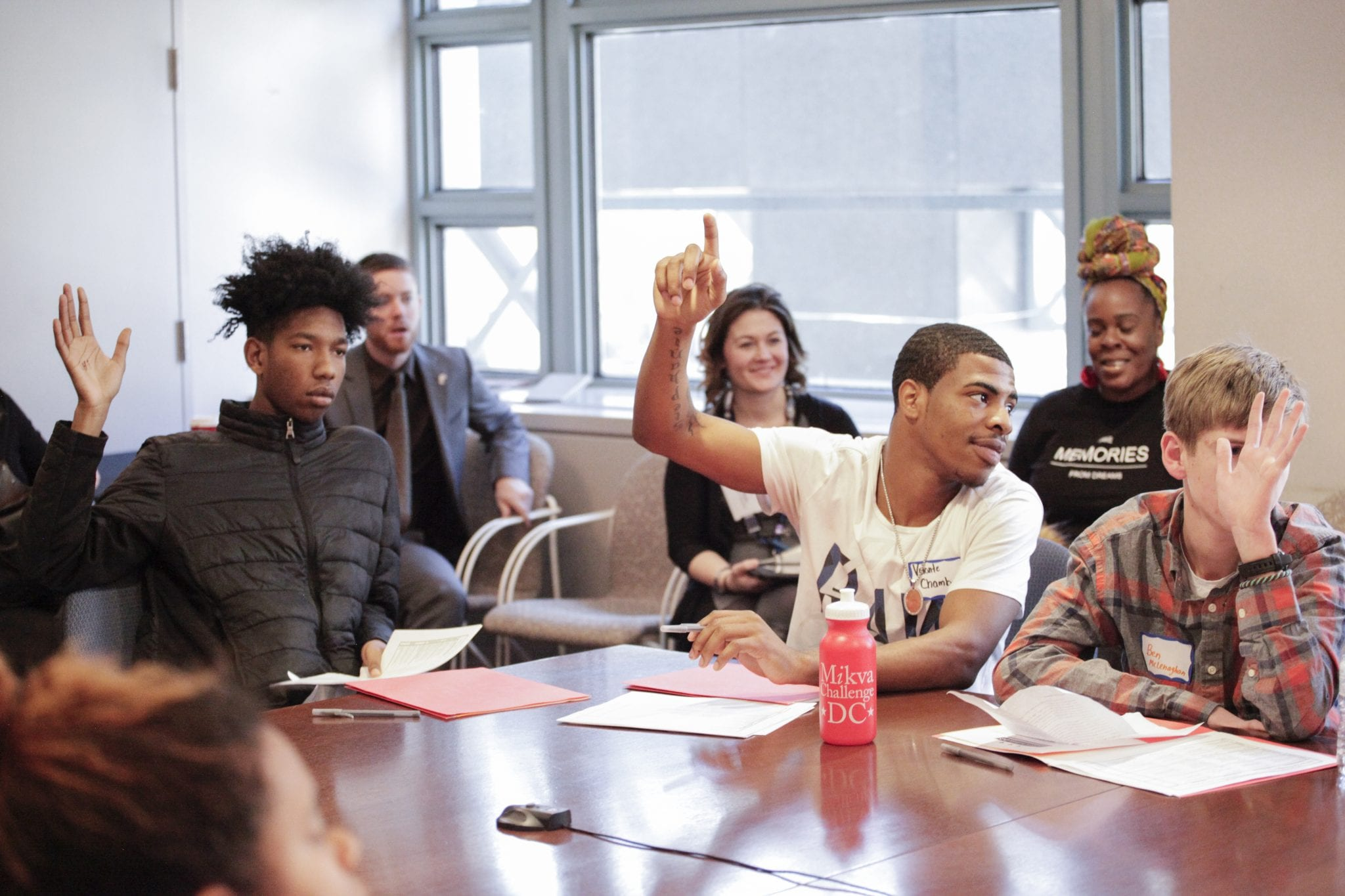 Mikva Challenge program participants engage in policy discussions