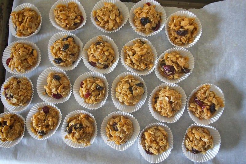 Peanut butter granola balls dessert snack
