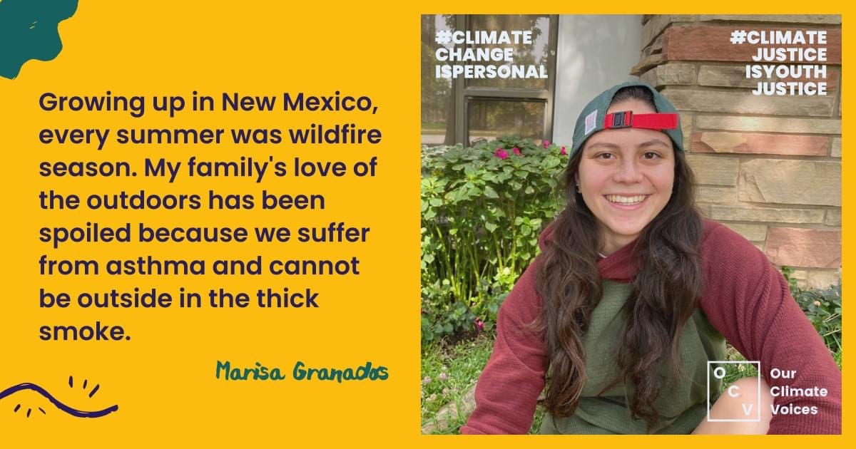 Image featuring Marisa Granados, a frontline voice from OCV's #ClimateChangeisPersonal campaign.